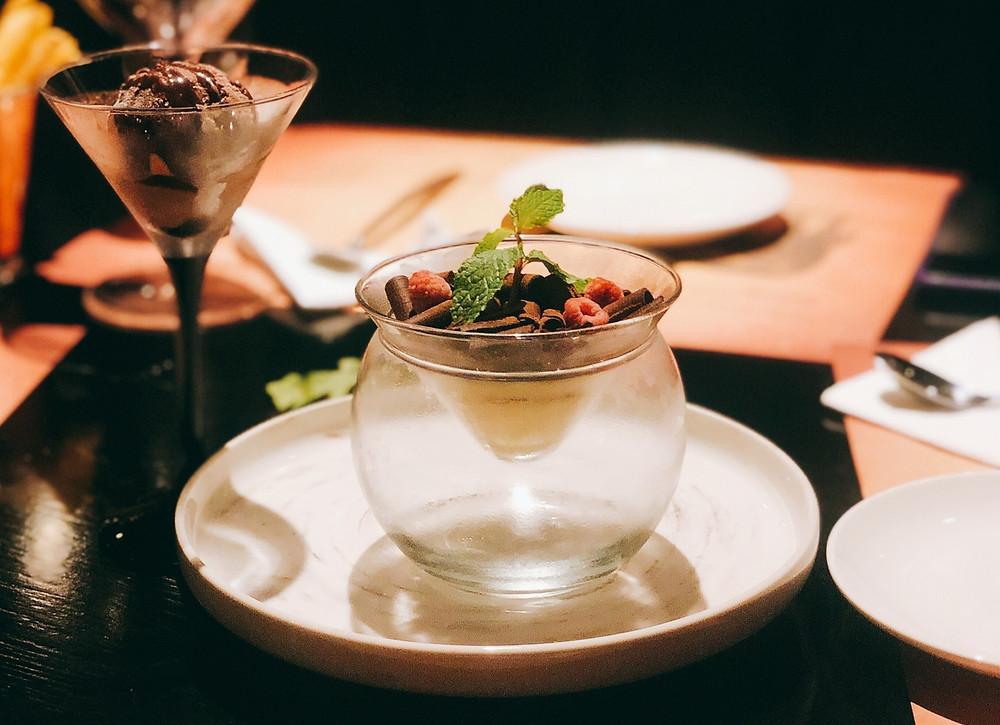 Indulgent and luxury dessert