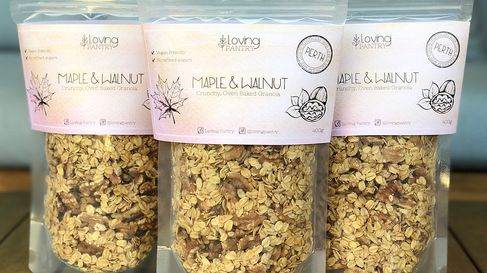 Maple and Walnut Granola
