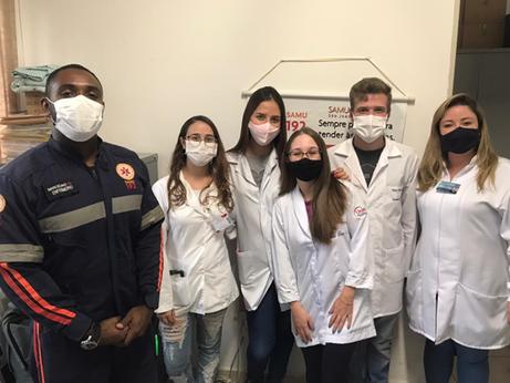 Curso de Enfermagem realiza visita técnica na base do SAMU Regional São João da Boa Vista