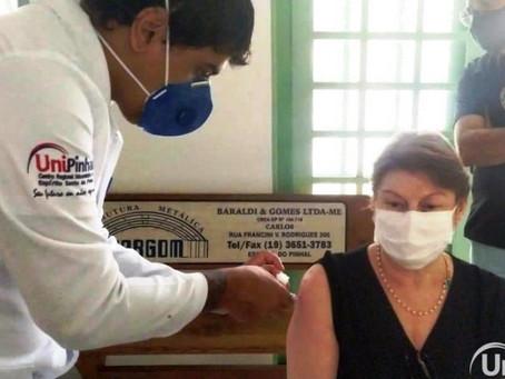 Enfermagem UniPinhal participa de Vacinação contra COVID-19