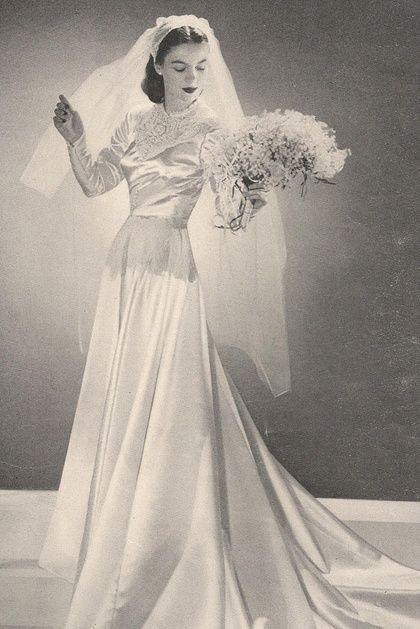 vestidos de novia 1945