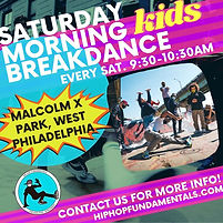 HHF Saturday Morning Free classes promo.
