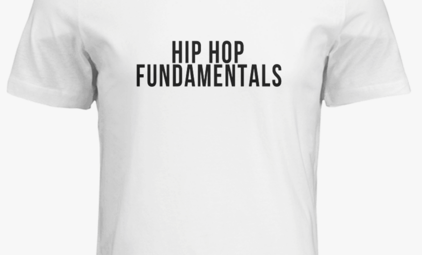 The Official HHF T-Shirt in white (front)