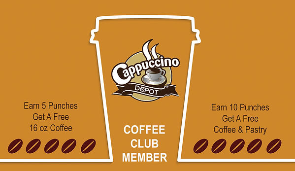 Join Our Coffee Club Today.