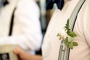 Anstecker-Groom-Hochzeit