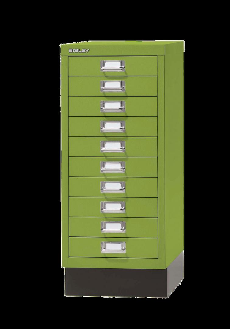 עשר מגירות צבע ירוק