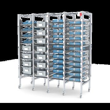 Sistema Di Scaffalatura In Alluminio 100%
