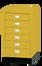 ארונית 6 מגירות מתחת לשולחן צהוב