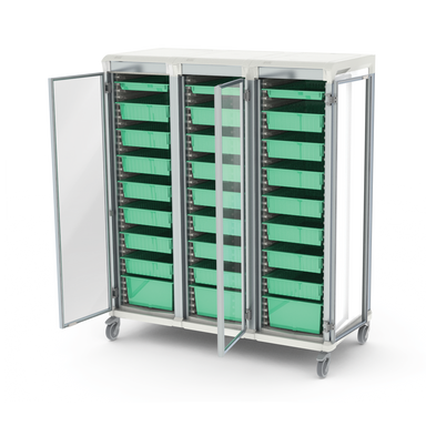 Integrated storage carts