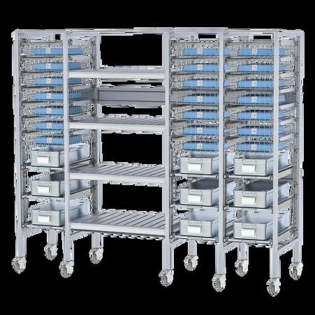 Aluminum open transportation cart