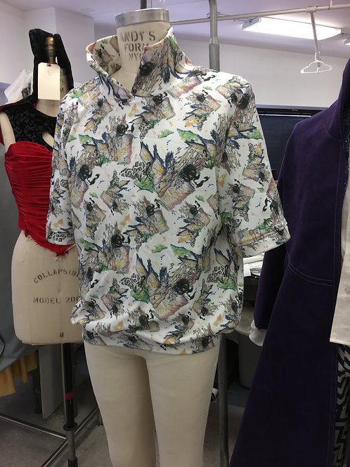 Funky collared printed T