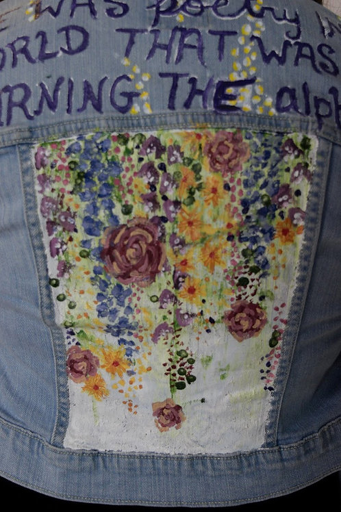 Hand Painted Floral Denim Jacket