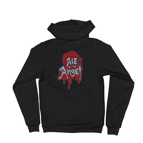 Ale with Angel Zip Hoodie