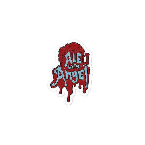 Ale with Angel Vinyl Sticker