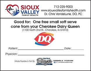 Sioux Valley Family Health Dairy Queen Ice Cream Prescription
