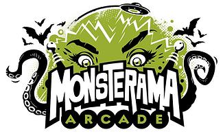 Monsterama Arcade logo Des Moines, Iowa