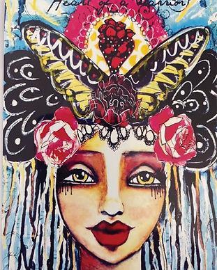 Love Your Inner Goddess Warrior Illustration