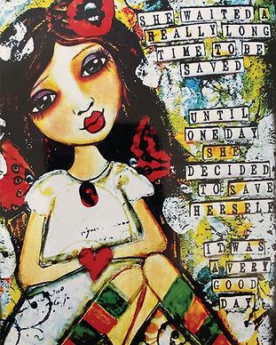 Love Your Inner Goddess Heart Illustration