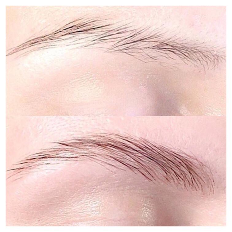 Brow lamination transforms downward growing Brows