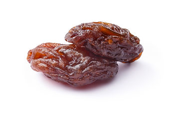 Brown natural seedless raisins from Cali
