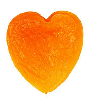 Dried apricots in the shape of heart.jpg
