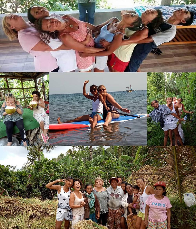 M YOGA A BALI plus qu une retraite de yoga, c est aussi une aventure et une découverte de l ile des Dieux; c est un séjour ouvert à tous avec une pratique de yoga tous les jours accessible à tous. Nous prenons le temps de visiter les Temples, les rizieres, de se baigner sous les cascades et de nager en mer avec les raies mantas, les tortues; c est aussi des trekking dans la nature à la rencontres des locaux qui peuvent nous initier à la cuisine balinaise; Vous aurez du temps pour votre shopping, votre repos en vous faisant masser chaque jour si vous souhaitez; un massage traditionnel balinais vous est offert a votre arrivée; c est aussi un voyage un peu nomade car nous ne restons pas plus de 3 nuits au meme endroit afin de diversifier le parcours;ceux qui ont suivi l aventure en 2017 ont été enchanté par la diversité du voyage, l accueil souriant des locaux avec qui nous œuvrons afin de rendre cette expérience unique et enrichissante!!!Encore une belle escapade qui s annonce pour 10 jours en été et toussaint 2018. Pour toutes les infos et contact 06 60 88 47 60