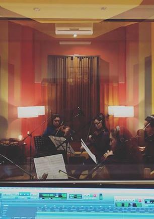 """Grabación de """"Destino"""", cuarteto de cuer"""
