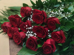 12 roses rouges 99$