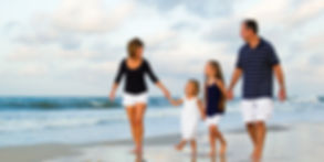 Happy family on beach, Happy, walking on beach,