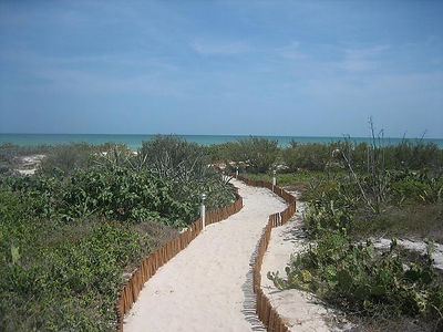 Beach path on Sunset Shores