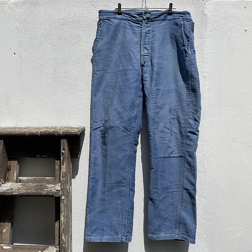 Mended Faded Moleskine Trousers 34W 29L