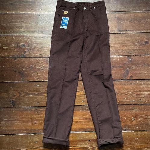 Le Laboureur Brown Corduroy Trousers 28W / 33L