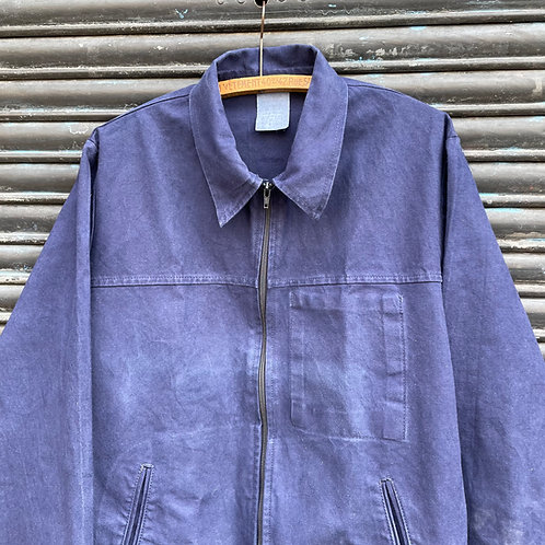 Le Laboureur Dark Blue Bomber Waisted Jacket - Medium