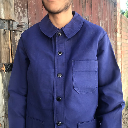 Adolphe Lafont Dark Blue Workwear Jacket - S/M & XL