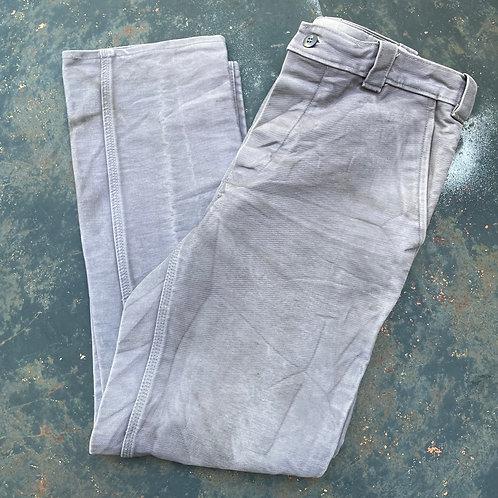 Worn Grey Moleskin Trousers 34W 30L