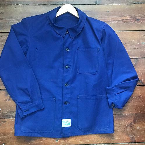 Dark Blue Vintage Deadstock Jacket - Large