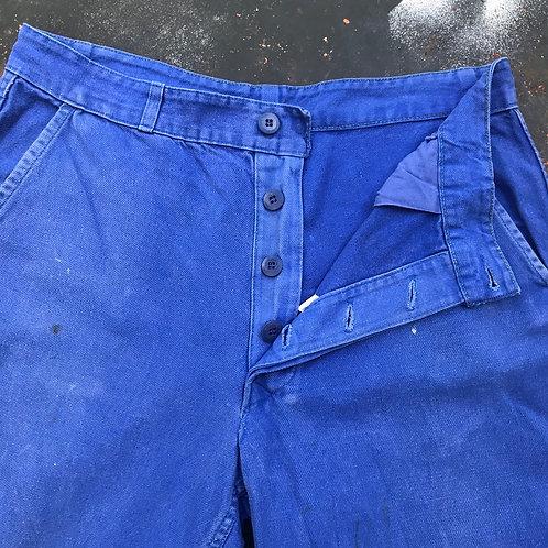 Bugatti Blue Trousers. 32W - 24L