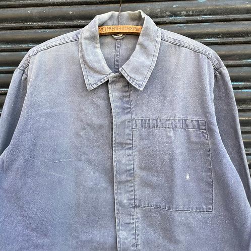Grey East German Jacket Concealed Buttons - Large