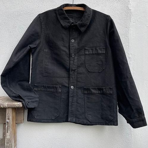 Antique Black Moleskine Jacket - Small