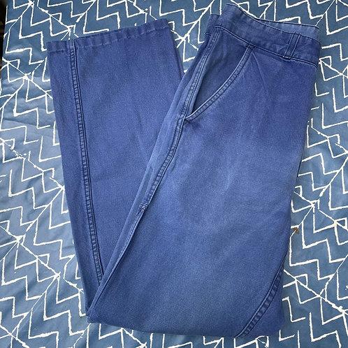 Faded Dark Blue Trousers 29W 27.5L