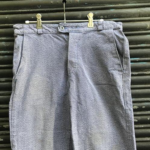 Chambray German Trousers 32W - 26L
