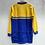 Thumbnail: Blue and Yellow Cycling Jersey Top Long Sleeves Medium