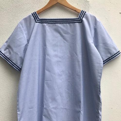 French Pale Blue Marine Nationale Shirt Medium
