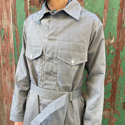 Grey Chambray Jumpsuit