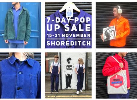 7-Day Pop Up Shoreditch Sale: 15-21 November, 81 Redchurch Street, E2.
