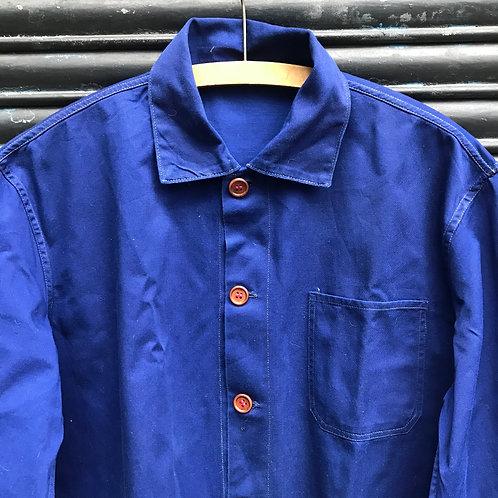 Dark Blue East German Jacket - Wooden Buttons - Large