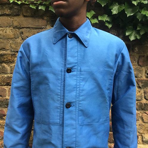Light Blue Moleskine Jacket Faded - Medium