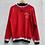 Thumbnail: Red Cycling Jersey Top Long Sleeves Medium