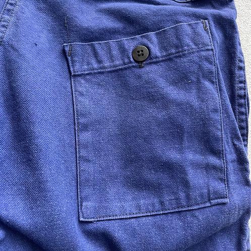 Worn Faded Dark Blue Trousers 34W 28.5L