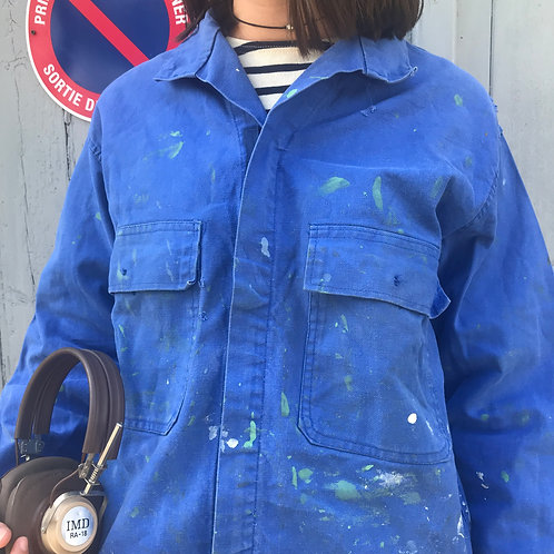 Medium Blue Jacket - Paint Splattered